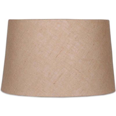 Mix & Match Medium 14-Inch Hardback Burlap Drum Lamp Shade
