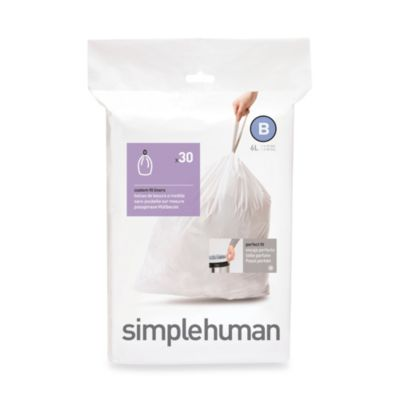 simplehuman® 30-Pack Code B Custom Fit 6-Liter Can Liners