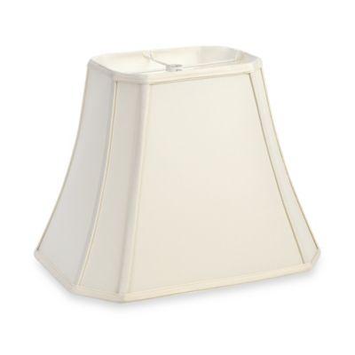 Mix & Match Medium 12-Inch Cut-Corner Rectangular Lamp Shade in Ivory