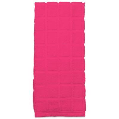 Kitchensmart® Solid Kitchen Towel in Pink
