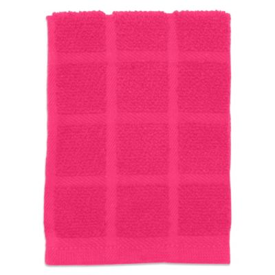 Kitchensmart® 13-Inch x 14-Inch Solid Dish Cloth in Pink
