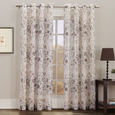 "Gemma Print Sheer Grommet 95"" Window Panel"
