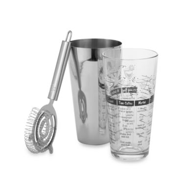 Libbey® 3-Piece Boston Cocktail Shaker Set