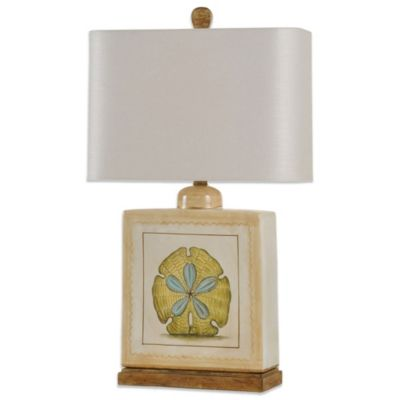 Coastal Sand Dollar Ceramic Table Lamp