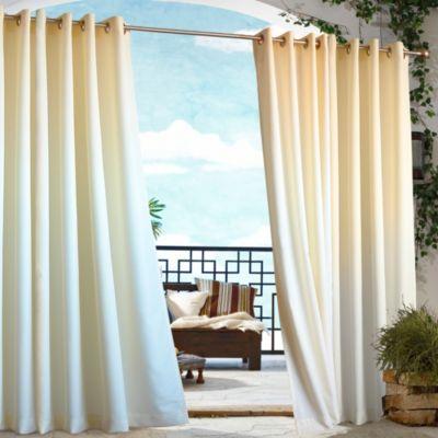 Orange Outdoor Curtain