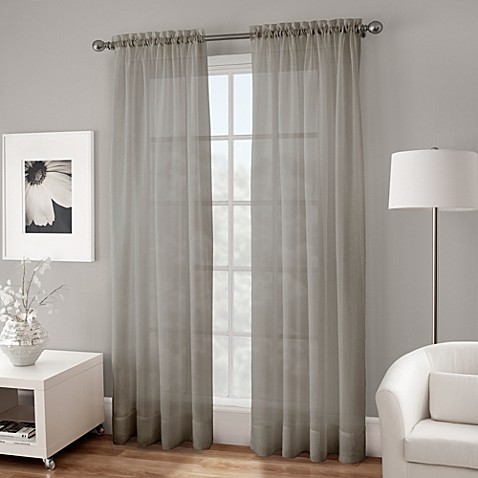 Buy Crushed Voile Sheer 108 Inch Rod Pocket Window Curtain