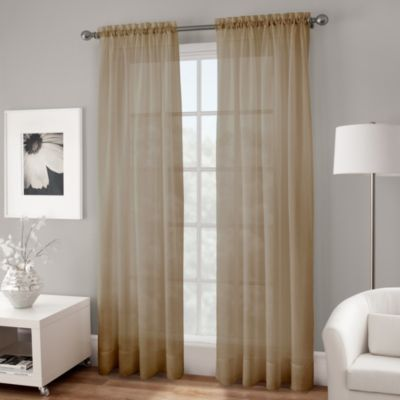 Buy 120 Inch Window Curtain Panel In Taupe From Bed Bath