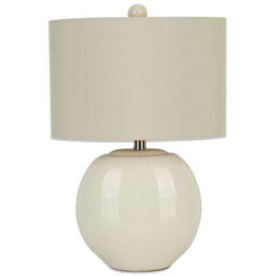 Ceramic Oval Table Lamp in Cream
