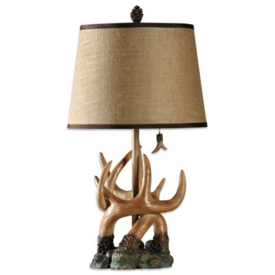Resin Antler Stump Table Lamp
