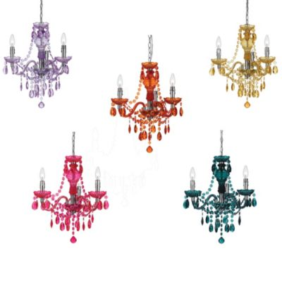 angelo: HOME Fulton Family 3-Light Chandelier in Orange