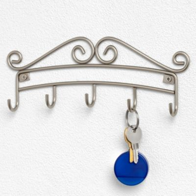 Spectrum Wall Mount Key Rack Holder in Satin Nickel