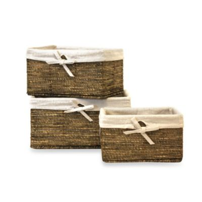"""AllSpice Maize"" Rectangle Baskets (Set of 3)"