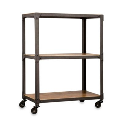 Loft Living™ Wood and Metal 3-Tier Rolling Cart