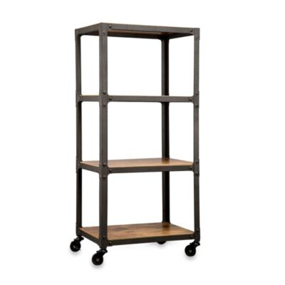 Loft Living™ Wood and Metal 4-Tier Rolling Cart