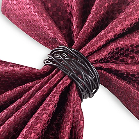 Twist Wire Napkin Ring in Black