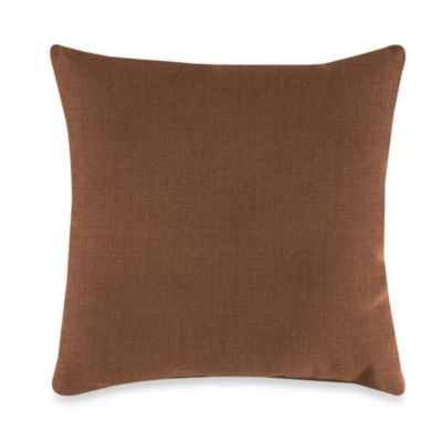 Outdoor 16-Inch Square Throw Pillow in Husk Texture Chocolate
