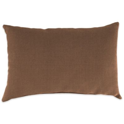 18-Inch x 12-Inch Rectangular Toss Pillow in Husk Texture Chocolate