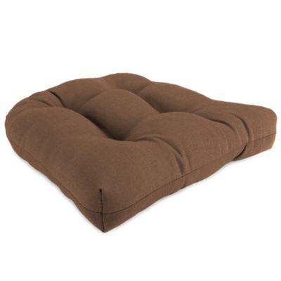 18-Inch x 18-Inch Wicker Chair Cushion in Husk Texture Chocolate