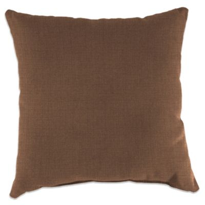18-Inch Square Toss Pillow in Husk Texture Chocolate
