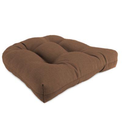 19-Inch x 19-Inch Wicker Chair Cushion in Husk Texture Chocolate