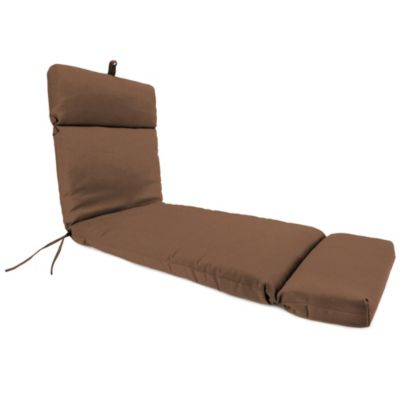 72-Inch x 22-Inch Chaise Lounge Cushion in Husk Texture Chocolate