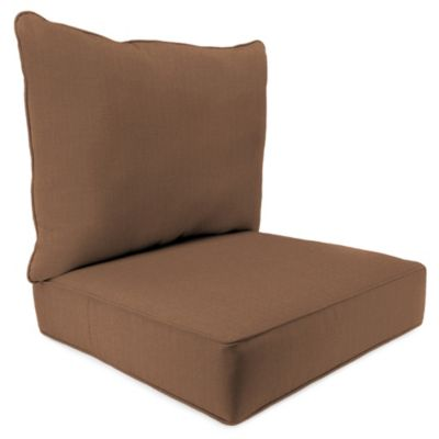 2-Piece Deep Seat Cushion in Husk Texture Chocolate