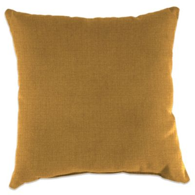 Outdoor 16-Inch Square Throw Pillow in Husk Texture Ginger