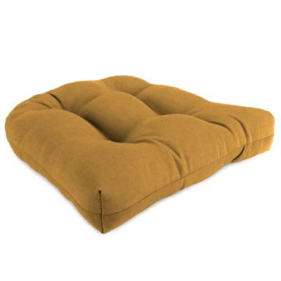 18-Inch x 18-Inch Wicker Chair Cushion in Husk Texture Ginger