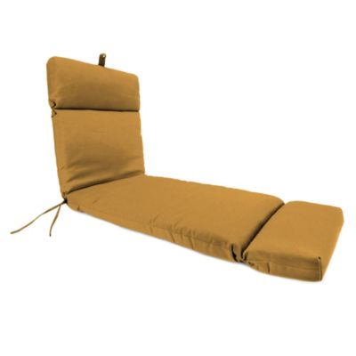 72-Inch x 22-Inch Chaise Lounge Cushion in Husk Texture Ginger