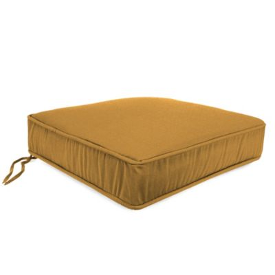 21-1/2-Inch x 22-1/2-Inch Box Edge Chair Cushion in Husk Texture Ginger