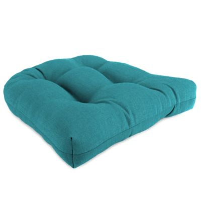 18-Inch x 18-Inch Wicker Chair Cushion in Husk Texture Lagoon
