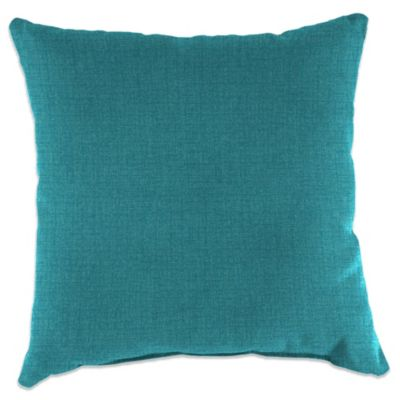 18-Inch Square Toss Pillow in Husk Texture Lagoon