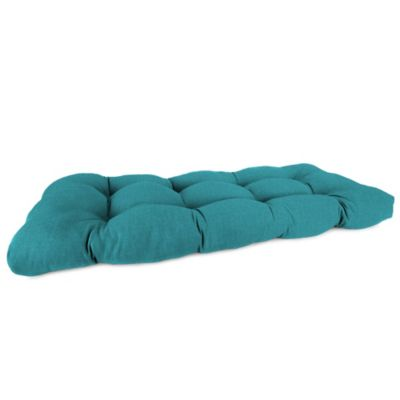 46-Inch x 19-Inch Wicker Settee Cushion in Husk Texture Lagoon