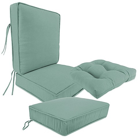 Outdoor Seat Cushion Collection In Husk Texture Mist Www Bedbathandbeyond Com