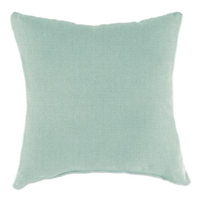 Outdoor 16-Inch Square Throw Pillow in Husk Texture Mist