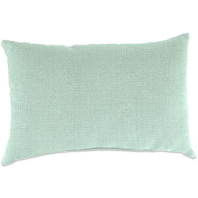 Outdoor 18-Inch x 12-Inch Rectangular Throw Pillow in Husk Texture Mist