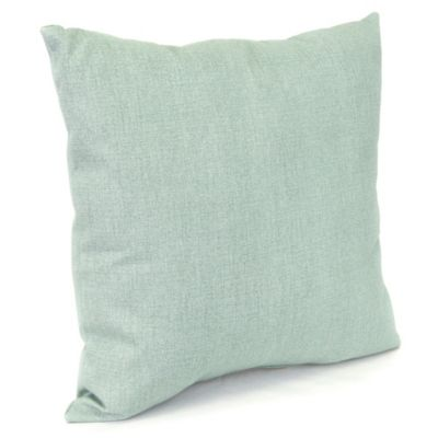 Outdoor 18-Inch Square Throw Pillow in Husk Texture Mist