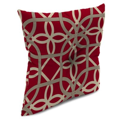 Outdoor 16-Inch Square Throw Pillow in Keene Cherry
