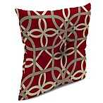 16-Inch x 16-Inch Square Toss Pillow with Center Hector in Keene Cherry