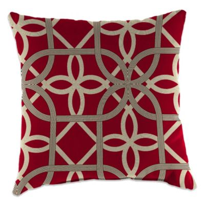 Outdoor 18-Inch Square Throw Pillow in Keene Cherry