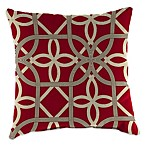 Outdoor 18-Inch Square Toss Pillow in Keene Cherry