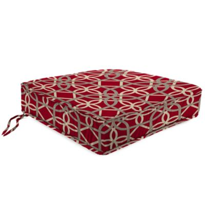 22-1/2-Inch Boxed Edge Attached Chair Cushion in Keene Cherry