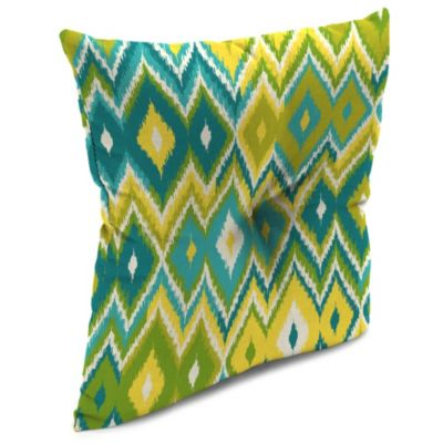 Outdoor 16-Inch Square Throw Pillow in Marva Kiwi Splash