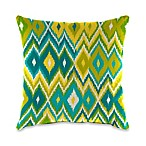 Outdoor 18-Inch Square Toss Pillow in Marva Kiwi Splash