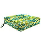 Outdoor Box Edge Chari Cushion in Marva Kiwi Splash