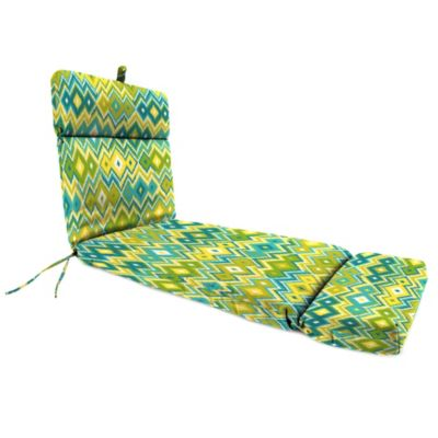 Outdoor Chaise Lounge Cushion in Marva Kiwi Splash
