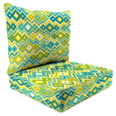Sunbrella® 24-Inch x 24-Inch 2-Piece Deep Seat Chair Cushion in Marva Kiwi Splash