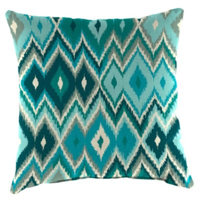 18-Inch x 18-Inch Square Toss Pillow in Marva Peacock