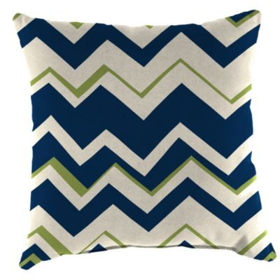 Outdoor 16-Inch Square Throw Pillow in Tempest Navy