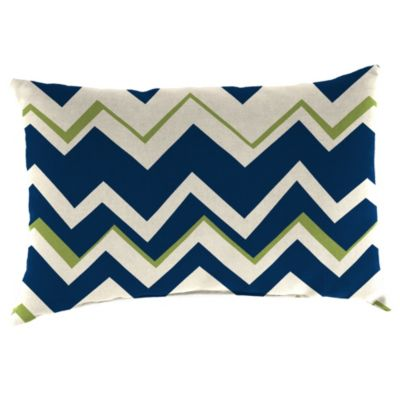 Outdoor 18-Inch x 12-Inch Rectangular Throw Pillow in Tempest Navy